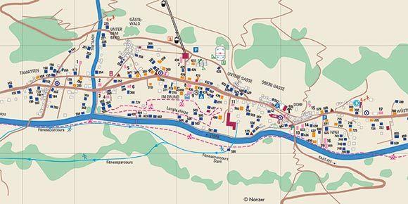 Dorfplan Saas-Grund