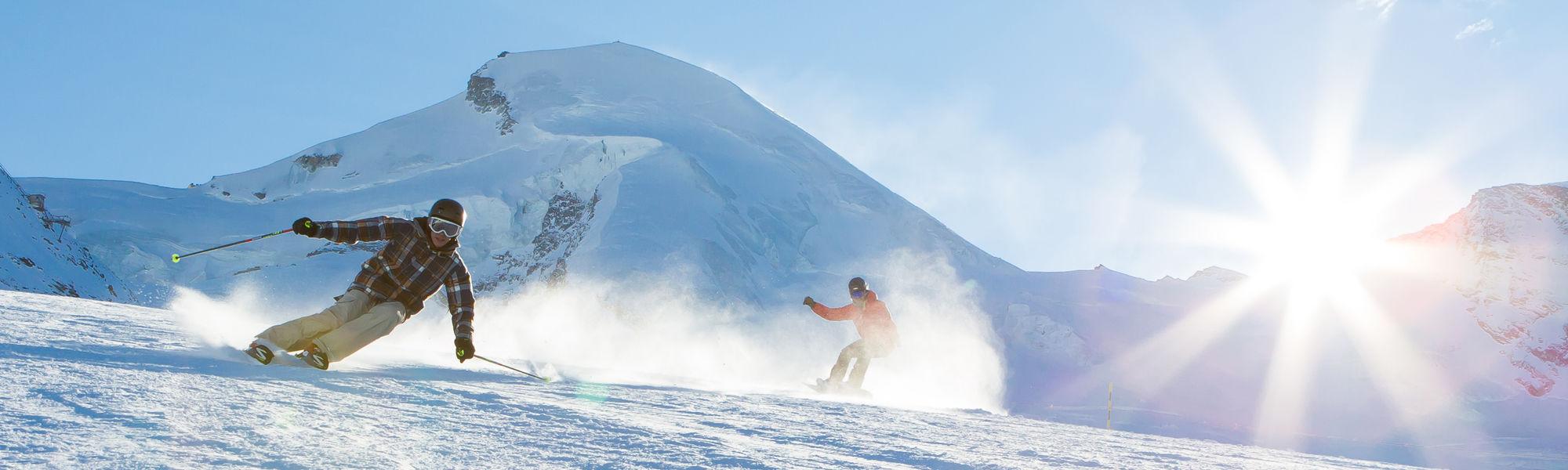 Skitest in der Freien Ferienrepublik Saas-Fee
