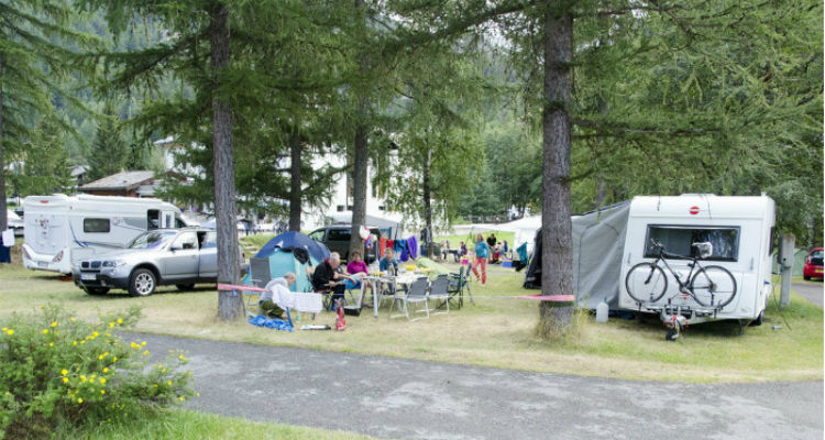 Camping Mischabel in Saas-Grund