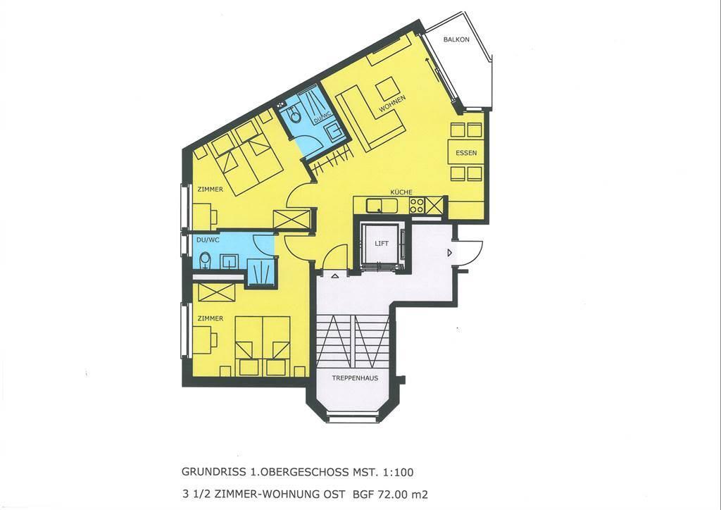 Haus Alpenrose 1. OG-Ost