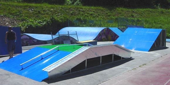 Skate Park in the Free Republic of Holidays Saas-Fee