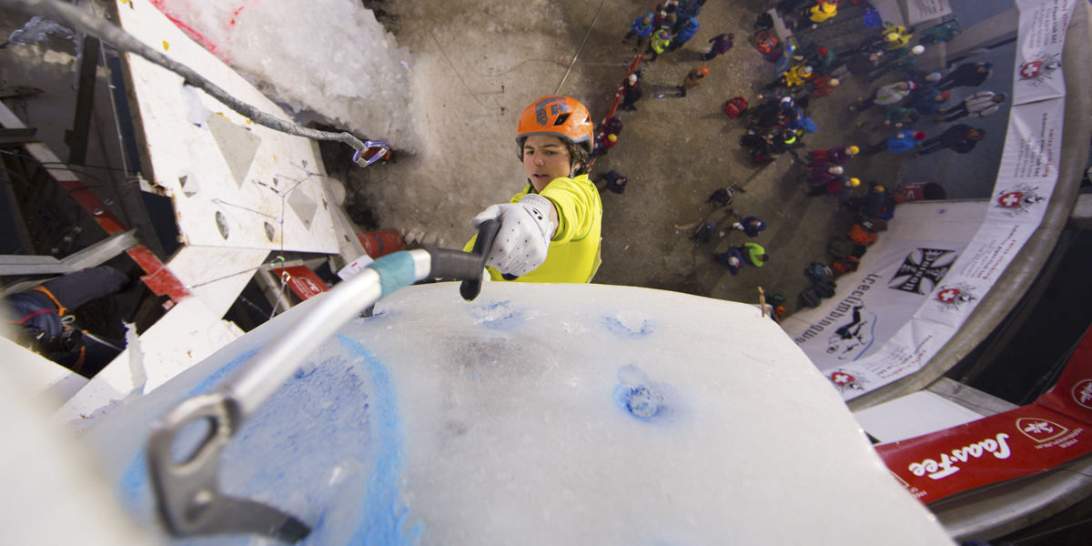 "[Translate to English:] ""Ice Climbing World Cup"""