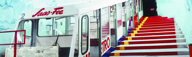 Metro Alpin Saas-Fee Höchstgelegene U-Bahn der Welt.
