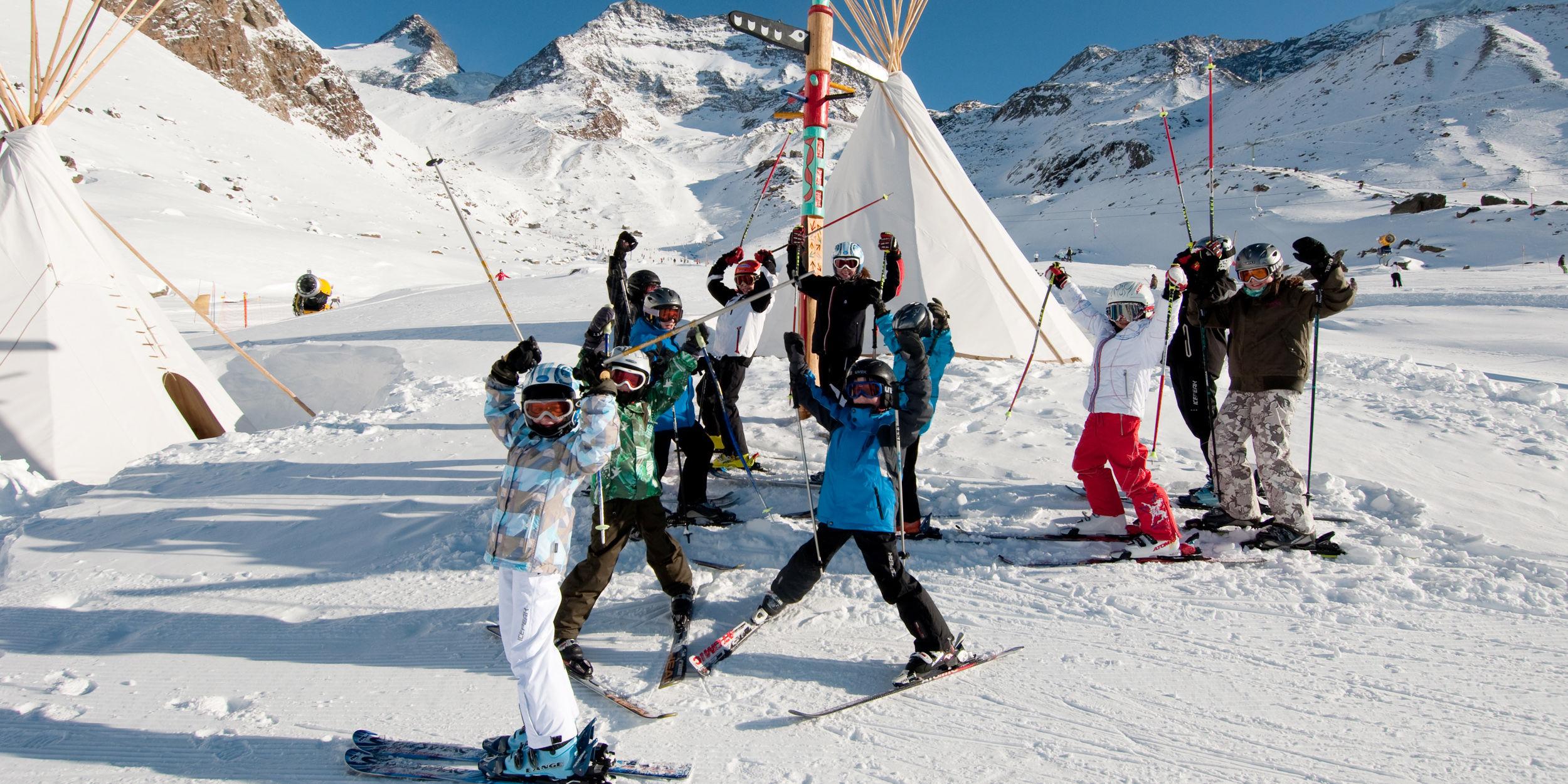 Hohsiland im Winter in der Freien Ferienrepublik Saas-Fee