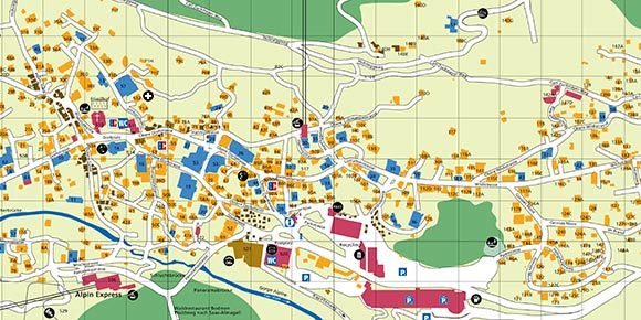 Village map Saas-Fee