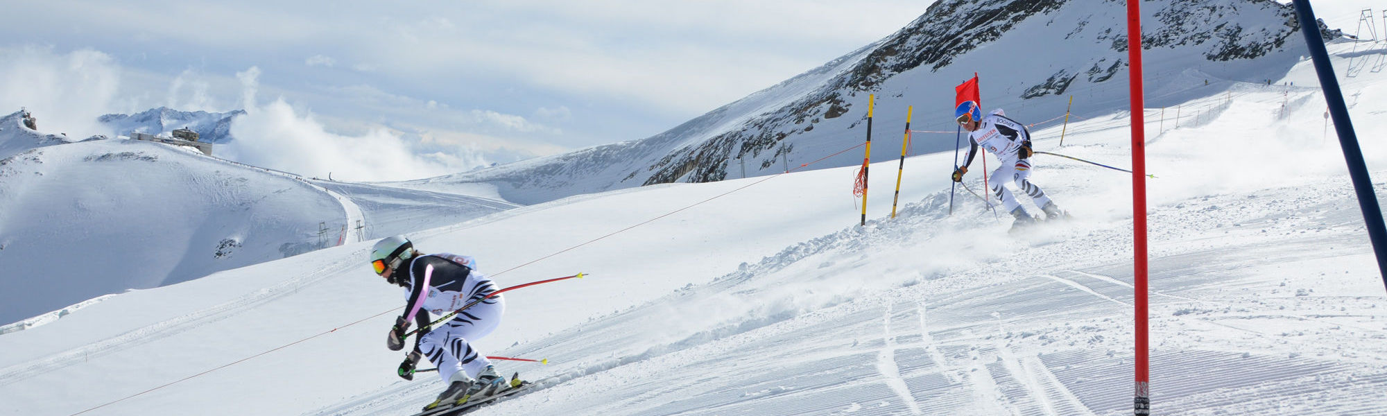 Ski fahren Saas-Fee