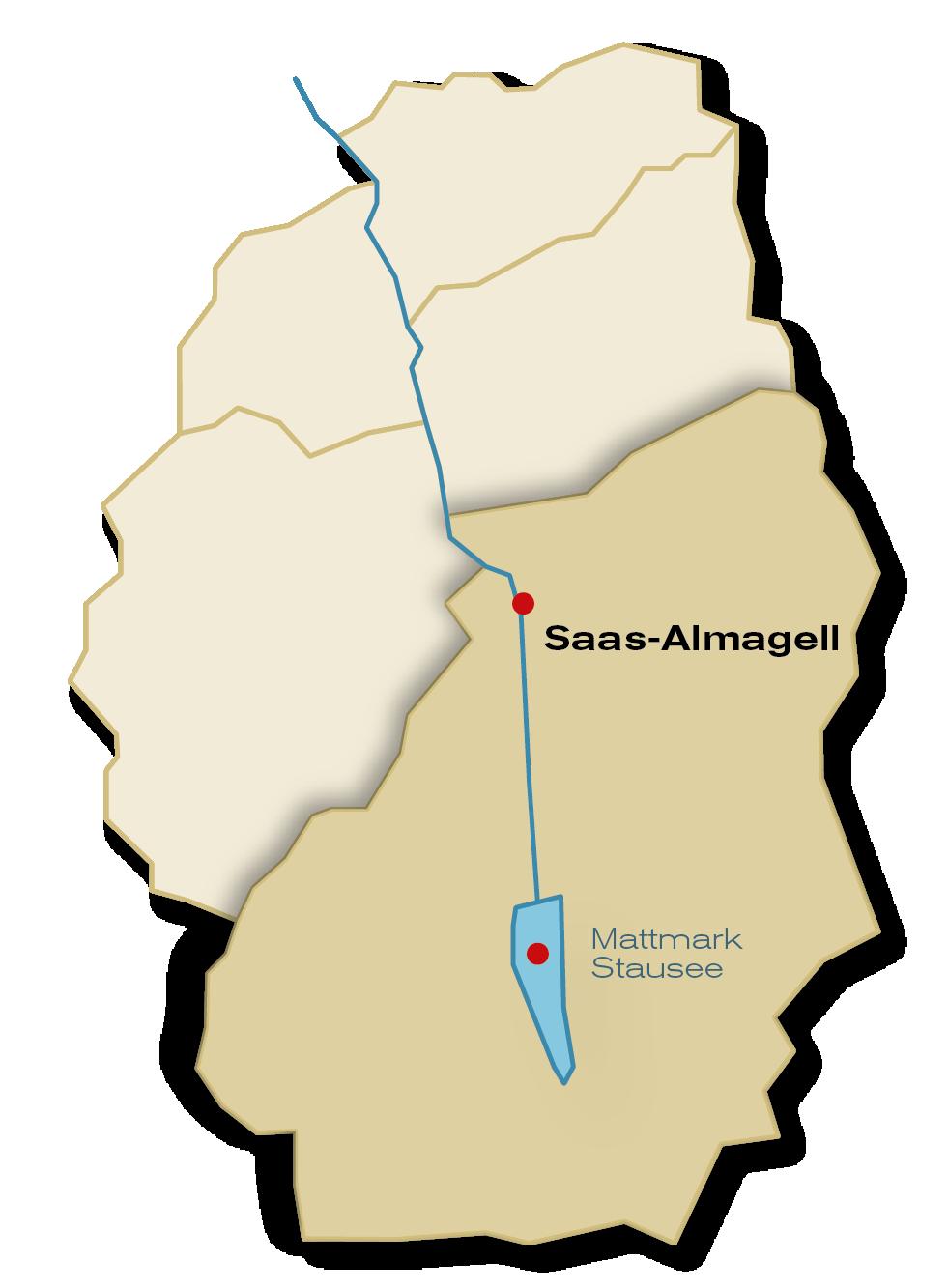 Gemeinde Saas-Almagell Übersicht
