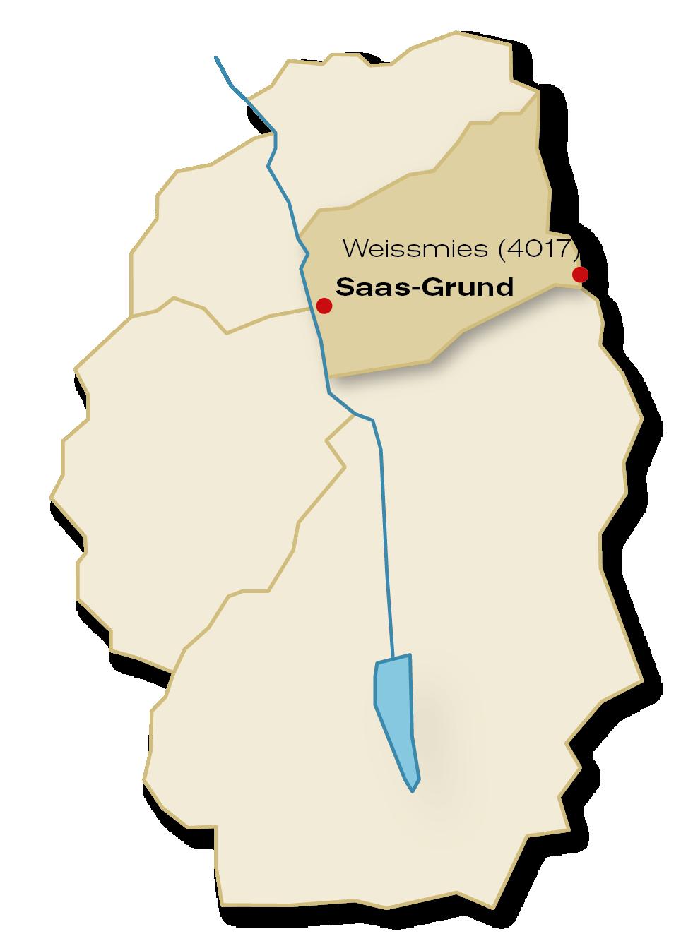 [Translate to English:] Gemeinde Saas-Grund Übersicht