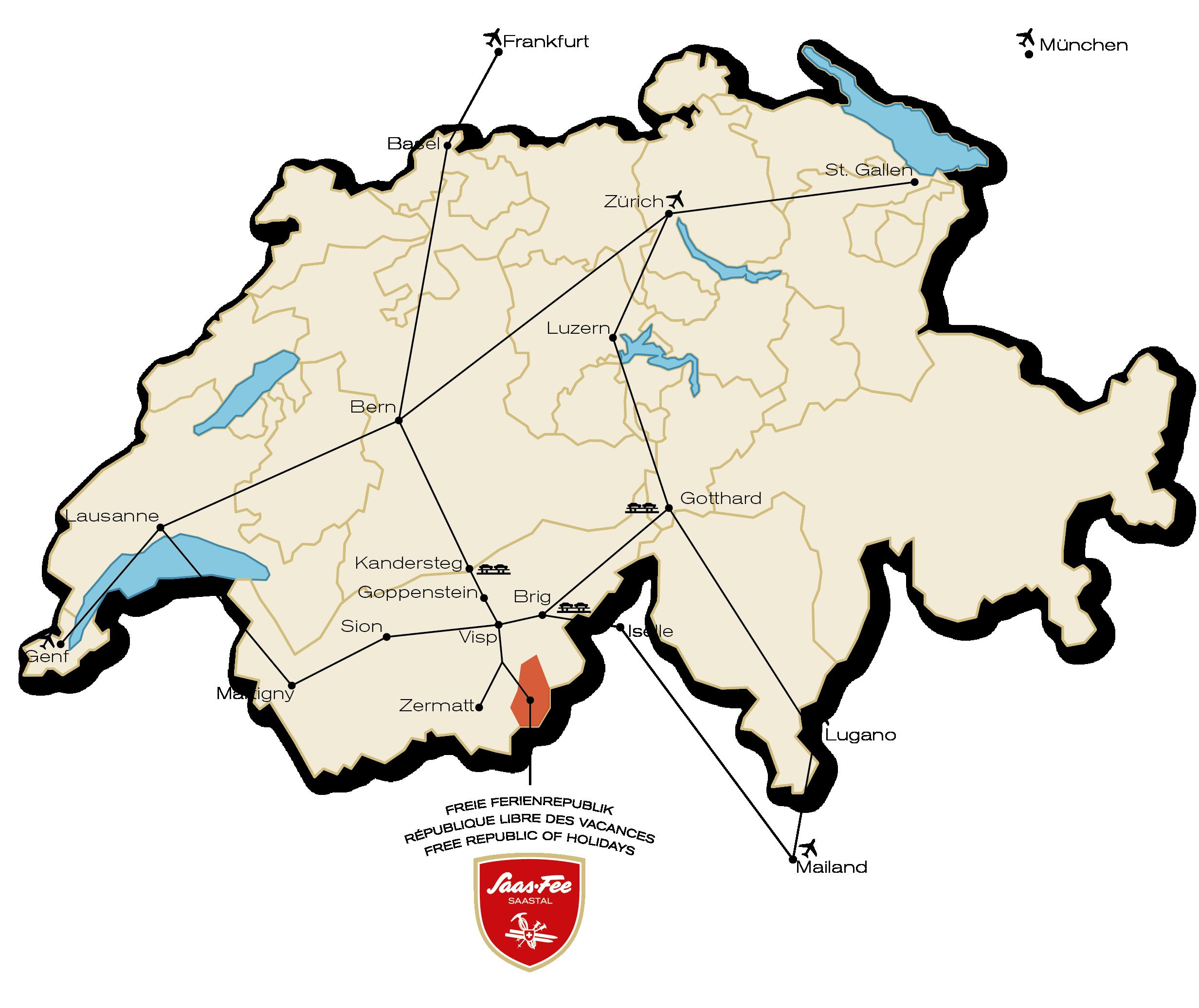 Schweiz - Saastal - Übersicht