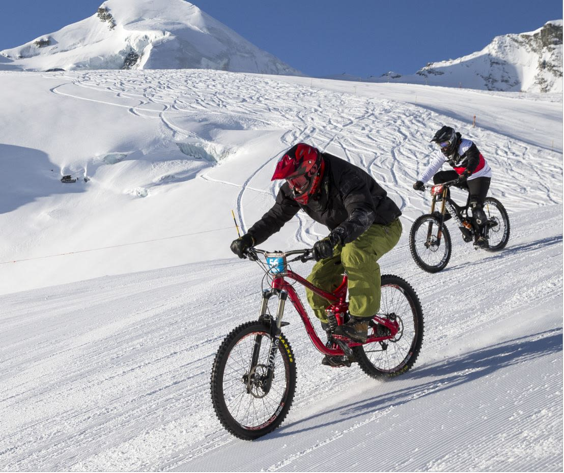 """Glacier Bike Downhill"""