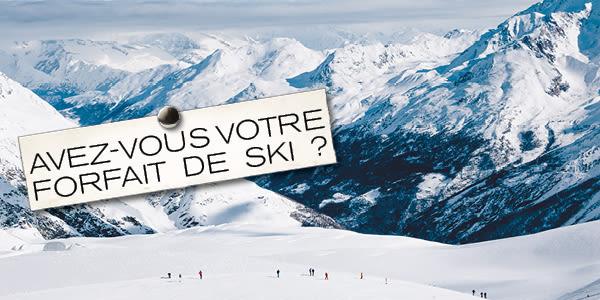 Avez-vous votre forfait de ski?