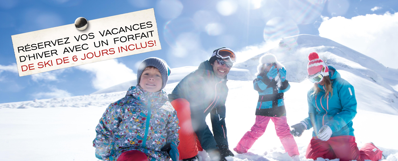 Réservez vos vacances d'hiver avec un forait de ski de 6 jours inclus!