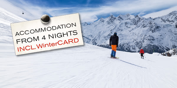 accomodation from 4 nights incl. WinterCARD