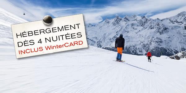 hébergement dès 4 nuitées inclus WinterCARD