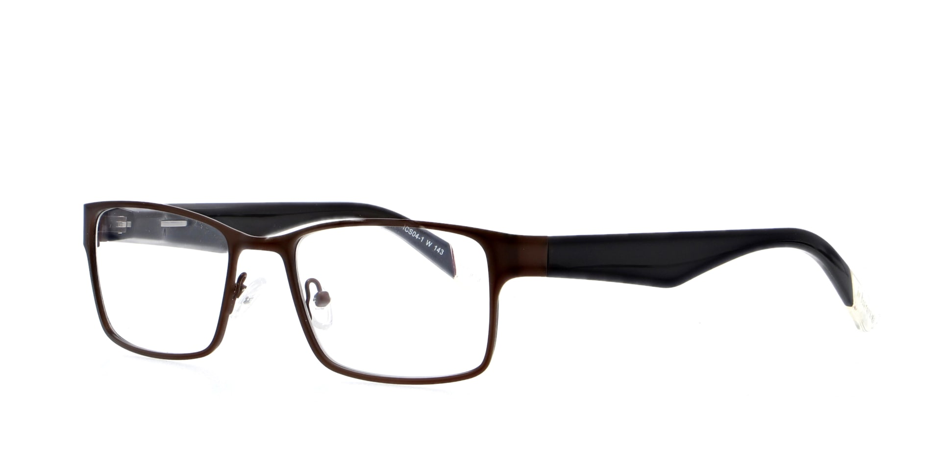 angled picture of metal and rectangle Jarrow Bronze ichoose glasses