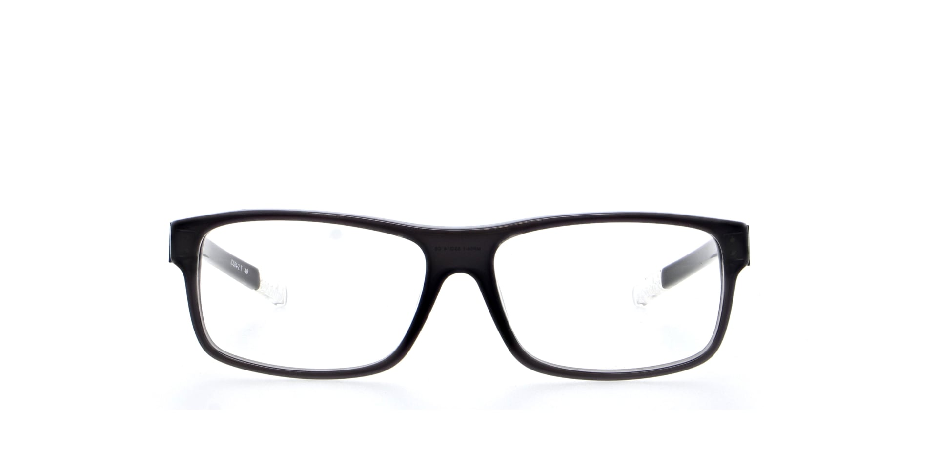front facing picture of square padstow grey ichoose glasses