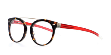 Guildford Tortoiseshell and Transparent Cherry Red