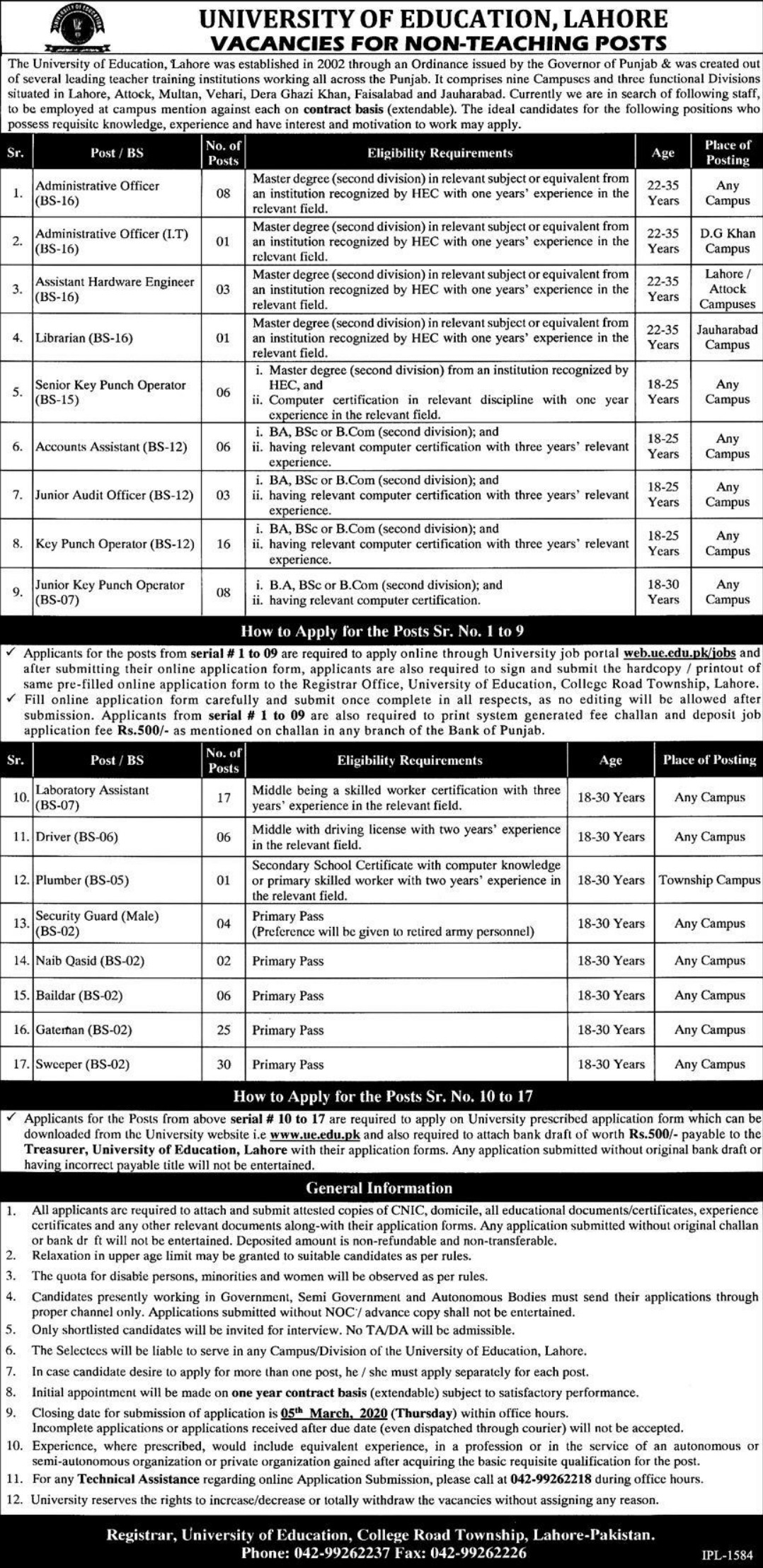 University-of-Education-Lahore-Jobs-202