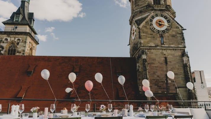 Heiraten am Schillerplatz mit wunderschöner Dachterrasse