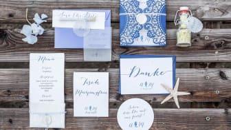 Papiergold Hochzeitspapeterie