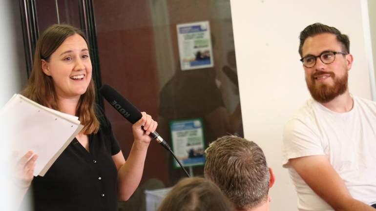 Alexis Stevens speaking