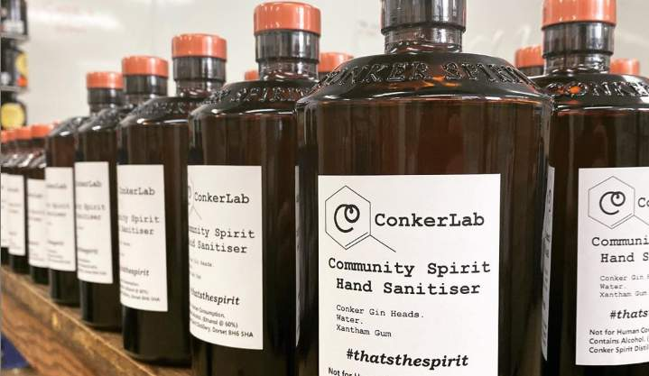 Conker Gin hand sanitiser