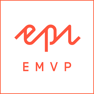 Red logo for the Epsierver EMVP