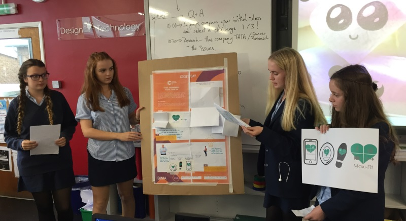 Another group presents their idea