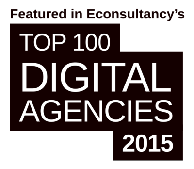Logo for the Econsultancy's top 100 digital agencies 2015