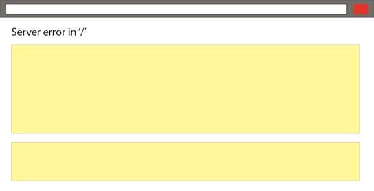 An image of a server error
