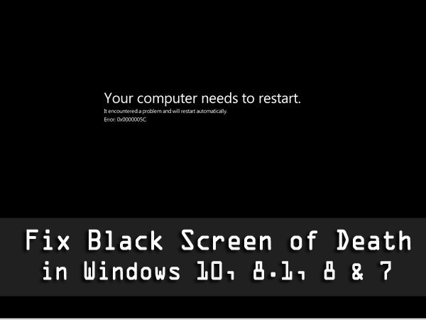fixing you laptop's black screen of death