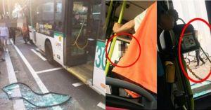 """""""저 안 내렸어요""""라며 주먹으로 버스 문 부수고 하차한 남성이 한 행동"""