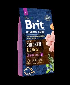 hrana uscata caini brit premium by nature junior s 8 kg pentru caini juniori de talie mica