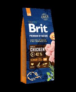 hrana pentru caini senior de talie mica si medie brit premium by nature senior s plus m
