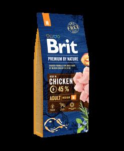 hrana caini brit premium by nature adult medium 15 kg pentru caini adulti de talie medie