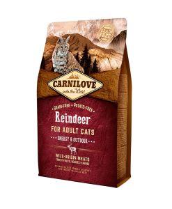 mancare pisici adulte Carnilove Ren Cats Energy fara cereale