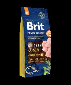 hrana caini brit pemium junio m pentru caini juniori de talie medie