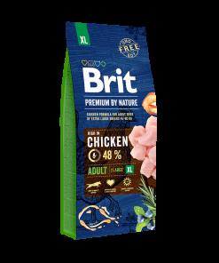 hrana caini brit premium by nature adult xl pentru caini de talie foarte mare