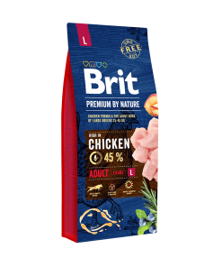 hrana caini brit premium adult l by nature formula noua