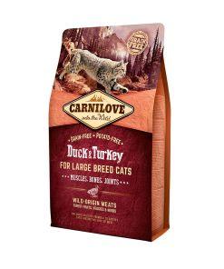 Carnilove rata si curcan fara cereale pentru pisici de talie mare