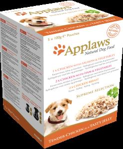 hrana umeda caini applaws dog supreme selection plicuri in sos pentru caini