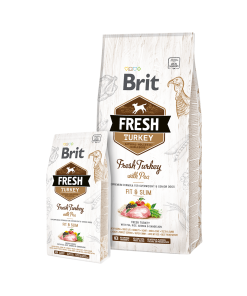 Hrana Uscata caini Brit Fresh Fit & Slim Curcan si Mazare