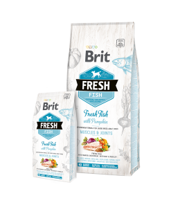hrana Brit Fresh Adult Talie Mare Peste cu Dovleac