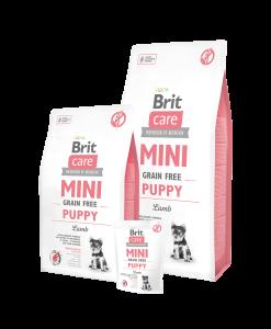 hrana caini junior brit care mini puppy cu miel