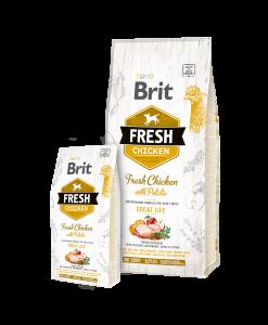 hrana caini adulti brit fresh pui si cartofi