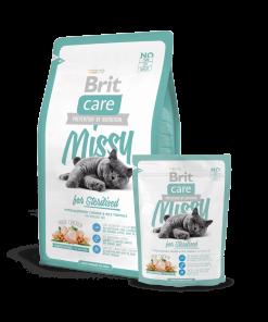 manacare pentru pisici sterilizate Brit Care Cat Missy Sterilised