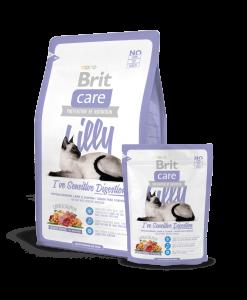 hrana uscata pisici brit care lilly sensitive pentru pisici cu digestia sensibilia