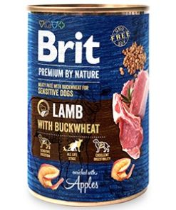 conserva pentru caini brit premium by nature miel 400 gr