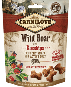 snacks pentru caoini activi canilove wildboar with rosehips cu miestret