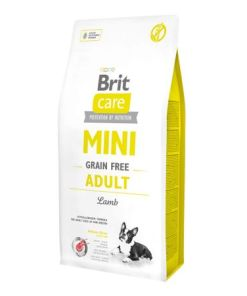 hrana caini brit care adult mini cu carne de miel